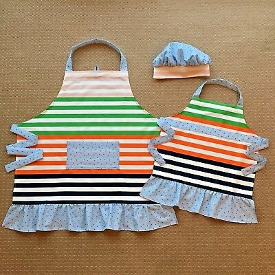 Apron4Two – Matching Mother and Daughter Apron Set with a Hat