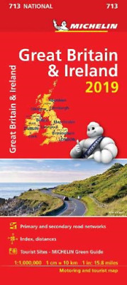 Great Britain & Ireland 2019 - Michelin National Map 713 (UK IMPORT) BOOK NEW