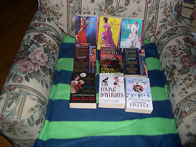 Lynsay Sands 9 book mixed lot The Bite Before Christmas The Countess Heiress