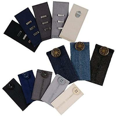 Comfy Fasteners Pants Bundle - 13 Waist Extenders (3 Types) For Dress Pants, And
