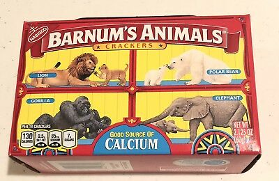 Nabisco Barnums Animal Crackers Box Caged Barnum's Unopened Out Of Production