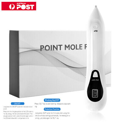 LCD Laser Freckle Removal Pen Skin Mole Dark Spot Face Wart Tags Remover Machine
