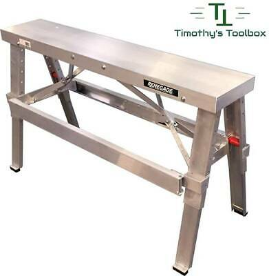"Drywall Bench Adjustable Height 18""- 30"" by Renegade- Professional Quality"