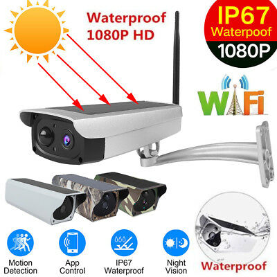 Outdoor Waterproof Solar Power WiFi IP Camera 1080P Wireless Security Camera PIR