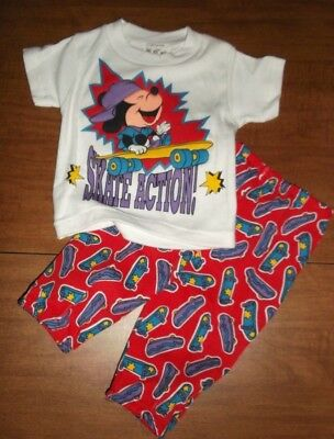 Disney Babies boys/girls 0-6 mth 2 Piece short sleeve top and pants NWT vintage