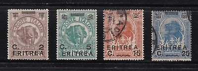 Eritrea stamps #59, 59, 61 & 62, mint & used, somewhat hard to find issues.