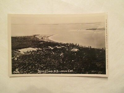 RPPC Devils Lake North Dakota ND Real Photo Postcard