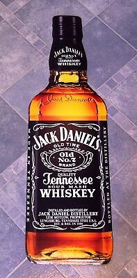 Jack Daniels Whiskey Bottle Advertising Display Sign