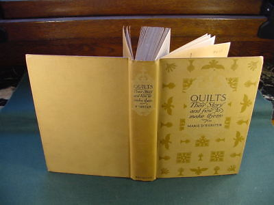1915 Quilts Their Story & How To Make Them by Marie D Webster Illustrated Book