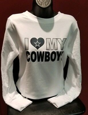8d6f05793 Dallas Cowboys sweatshirt Small-XL Lightweight Women Football Texas