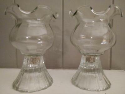 Home Interiors Homco Clear Fluted Votive Cup with Grommets -  Set of Two
