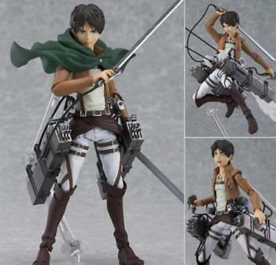 Anime Figma 207 Attack on Titan Eren Yeager Action PVC Figure New No Box 15cm