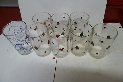 8 x  swanky swig glasses  8.5 cm  no chips  Please look at photo for details
