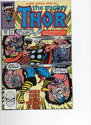The Mighty Thor #415, (1990, Marvel): When Gods Wear Mortal Flesh! NM