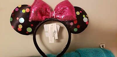 Disney Parks New Rock the Dots Minnie Mouse Ears