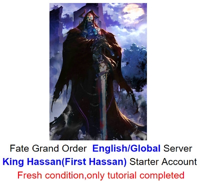 [NA]Fate Grand Order English FGO Fresh Starter account King Hassan/First Hassan