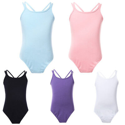 ed2a0713c US KIDS GIRL S Double Strap Dancewear Cotton Ballet Gymnastic ...