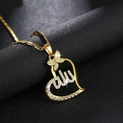 Fashion Women Muslim Islamic God Allah Charm Pendant Necklace Gift Copper Chain