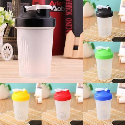 500ml BPAfree Shake Protein Blender Shaker Mixer Cup Drink Whisk Ball Bottle TOP
