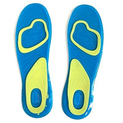 1Pair Gel insole Massaging Orthotic Silica Pad Sport Running  Arch Heel Support
