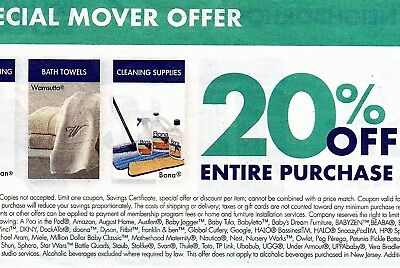 Bed Bath & Beyond 1 Coupon 20% OFF ENTIRE PURCHASE ORIGINALS (NOT PRINT)
