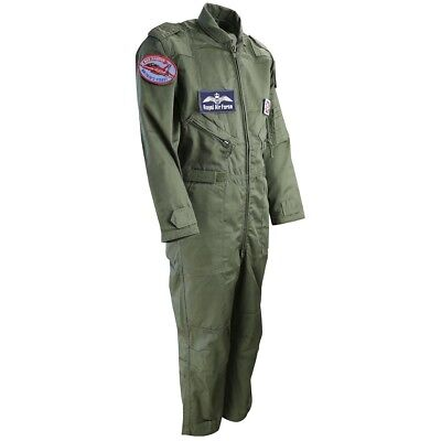 (9 - 11 Years, Olive Green) - Kombat UK Children's Flight Suit. Delivery is Free
