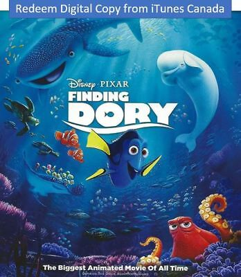 Disney Finding Dory Digital Code redeem on iTunes Canada Only (No Discs)