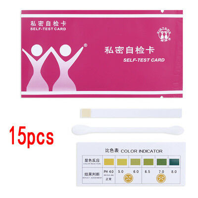15x Urine Tract Vaginal Vaginosis / Bacterial / Thrush PH Test Strips Kit Women