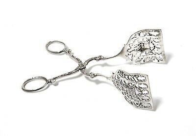 Silver pastry tongs. Germany (Was imported to Sweden).
