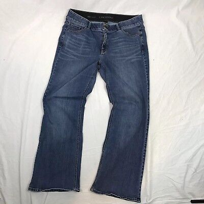 Lane Bryant Womens Jeans Sz 22R High Rise Boot Bootcut Dark Wash Tighter Tummy K