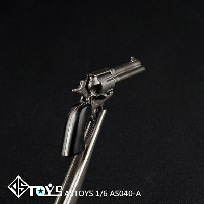 "1/6 Black Gun Model Colt Revolver AS040-A Weapon Props F 12"" Action Figure Body"