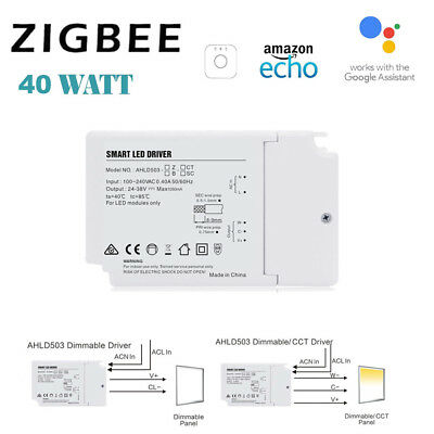 1000mA 24-40W Zigbee 3.0 CCT/Songle Color Dimmable LED Driver Power Fr Echo Plus