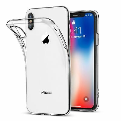 iPhone X Case Shock Proof Crystal Clear Soft Silicone Gel Bumper Cover Slim