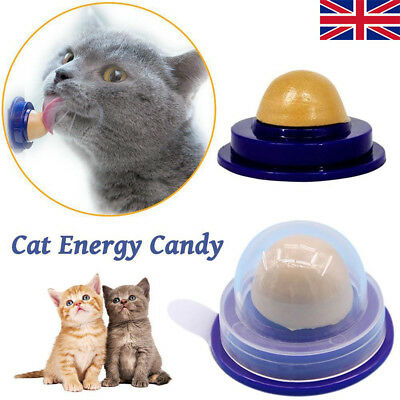 5Pcs Cat Snack Catnip Sugar Candy Licking Solid Nutrition Energy Ball Pet Toy WT