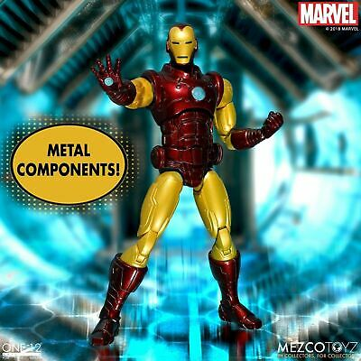 """Mezco One:12 Collective Classic Iron Man 12"""" Scale Action Figure Model"""