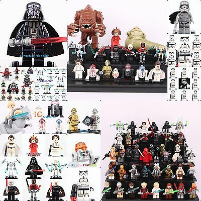 2019 Star Wars MOC All Character C3po Darth Vader  Troopers minifigure fit Lego