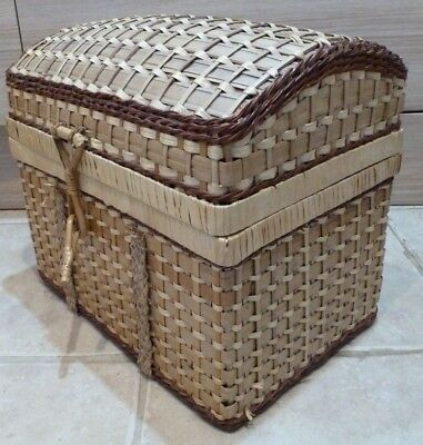 Wicker Basket Hamper Chest