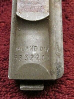 M1 carbine parts old stock rear sight base demilled Inland WWII (G54)