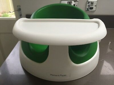 Mamas & Papas Baby Snug Seat in Green with Detachable Tray