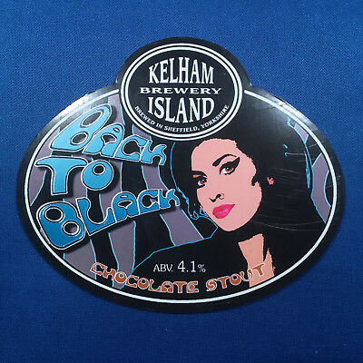 AMY WINEHOUSE beer pump clip badge - Back Black Music KELHAM ISLAND Brew *RARE*