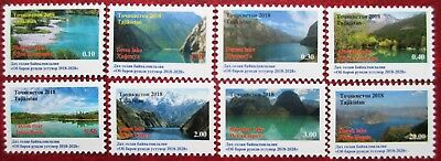 Tajikistan  2018  Water for sustainable development (mountains lakes) 8 v   MNH