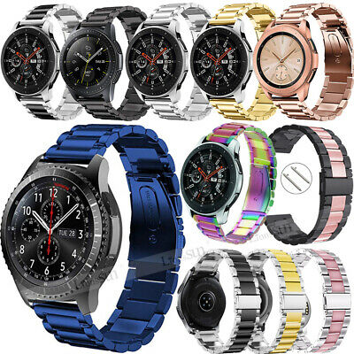 22MM Stainless Steel Link Watch Band Strap For Samsung Galaxy Watch 46mm Gear S3