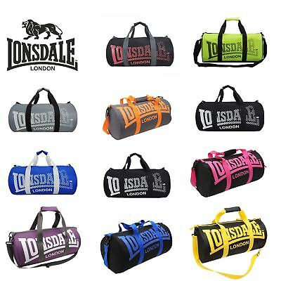 Lonsdale London Holdall Barrel Bag Kitbag Gym Fitness Carryall