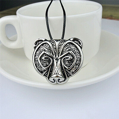 Hot Bear Head Amulet Pendant Necklace Norse Viking Necklace Talisman Jewelry Fq
