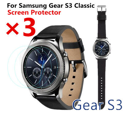 Full Coverage Tempered Glass Screen Protector For Samsung Gear S3 Classic-3 Pack