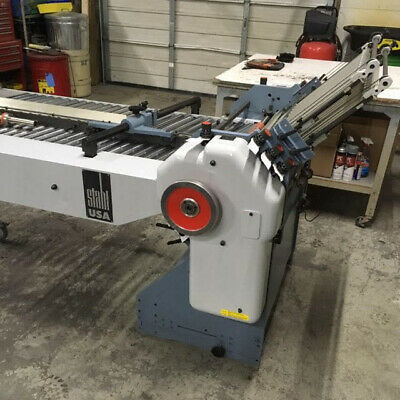 RECONDITIONED Stahl Folder 8-page unit right angle with glue rollers