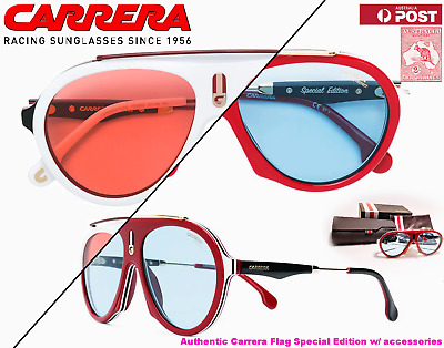 5d8a439d8d CARRERA FLAG Special Edition Aviator Sunglasses 57-16-145 Coloured lenses