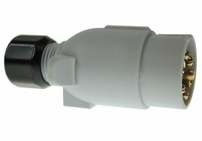 Caravan Electrics  7 pin 12s Plug Grey Supplimentary Maypole Caravan Towing Plug
