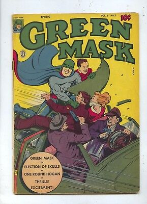 1945 Green Mask Vol 2 #1 Fox Feature Comic Book FN+