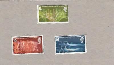 GB Stamps QEll 1970 Commonwealth Games Set SG 832 - 834 MNH 3 values